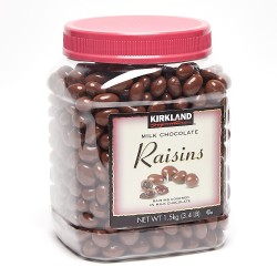 Kirkland Signature Milk Chocolate Covered Raisins 1.5 kg