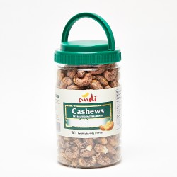 Andi Dry Roasted Natural Skin On Cashews 450g