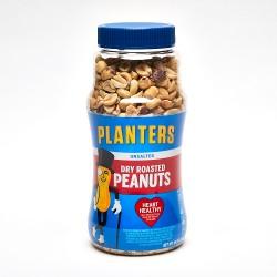 Planters Unsalted Dry Roasted Peanuts 16oz. Jar