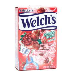 Welch's Single To Go Drink Mix Cherry Pomegranate 13.1g 6 Packets