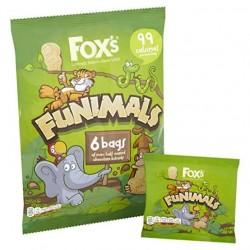 Fox's Funimals Mini Half Coated Chocolate Biscuits 6 x 22g