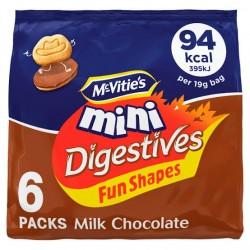 McVitie's Fun Shapes Mini Milk Chocolate Digestives 114g