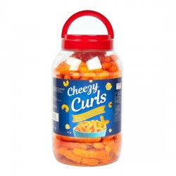 Cheezy Curls Cheese Flavored Snack 300g