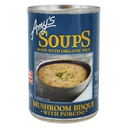 Amy's Soup Made w/ Organic Rice Mushroom Bisque 14oz 397g