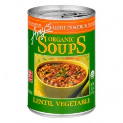 Amy's Organic Soups Lentil Vegetable 14.5oz 411g