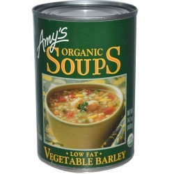 Amy's Organic Soups Vegetable Barley Low Fat 14.1oz 400g