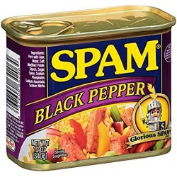 Spam Luncheon Meat Black Pepper 12oz 340g