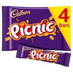 Cadbury Picnic Chocolate Bar 4 x 32g