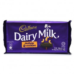 Cadbury Dairy Milk Cashew & Cookies Chocolate Bar 165g