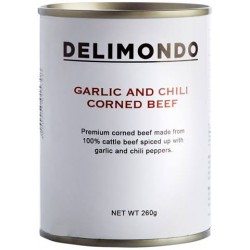 Delimondo Garlic and Chili Corned Beef 260g