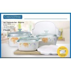 Corningware 9-pc Casserole Set - Begonia