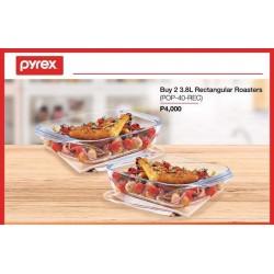 Pyrex 3.8L Rectangular Roasters 2 pcs