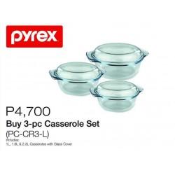 Pyrex 3-pc Casserole Set