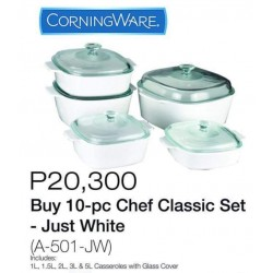 Corningware 10-pc Chef Classic Set (White)
