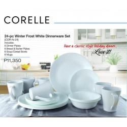 Corelle 24-pc Winter Frost White Dinneware Set