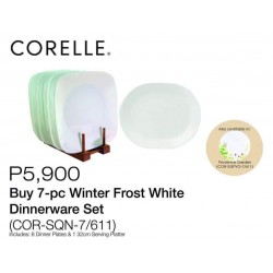 Corelle7-Pc Winter Frost White Dinnerware Set (Available in Provence Garden)