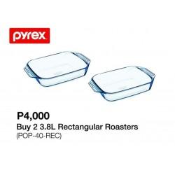 Pyrex 2 3.8L Rectangular Roasters