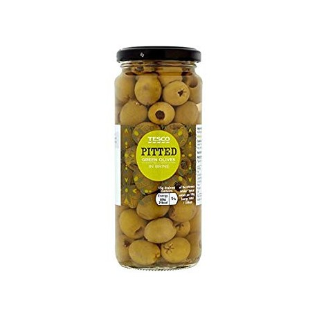 Tesco Pitted Green Olives 340g ​