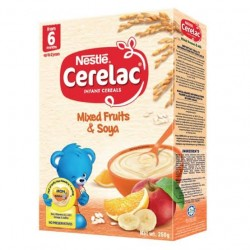 CERELAC SOYA MIX FRUITS DHA24 250G