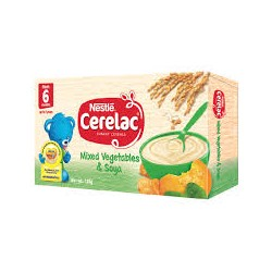 CERELAC MIXED VEGETABLES & SOYA 120G