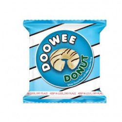 Doowee Donuts White Choco Frost With Milky Cream Filling 40g 10s