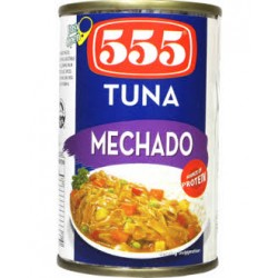 555 Tuna Flakes Mechado Easy Open Can 155G