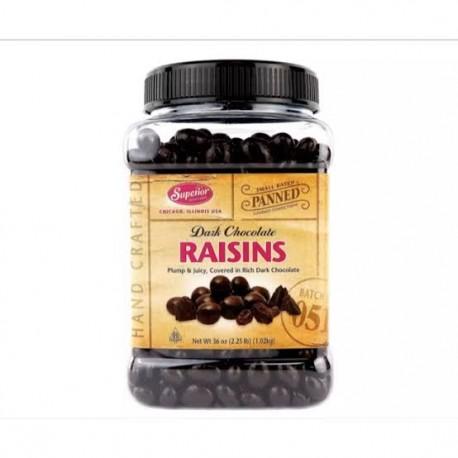 Superior Dark Chocolate Raisins 1.02 kg