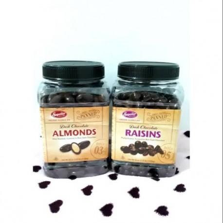 Superior Dark Chocolate Almonds 36oz