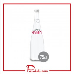 EVIAN NATURAL MINERAL WATER (GLASS) 750ML
