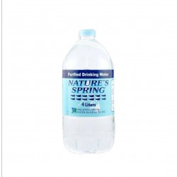 Nature's Spring Purified Water 4L