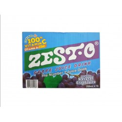 Zesto Grape Juice Drink 200ml 10s