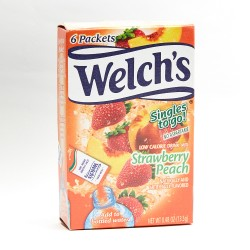 Welch's Single To Go Drink Mix Strawberry Peach 13.5g 6 Packets
