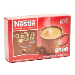 Nestle Rich Milk Chocolate Hot Cocoa Mix 6 x 20.2g