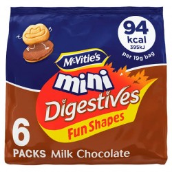 McVitie's Fun Shapes Mini Milk Chocolate Digestives 114g