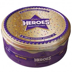 Cadbury Heroes 20th Birthday Edition Tin 800g