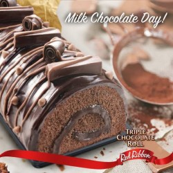 Red Ribbon Triple Chocolate Roll - Half