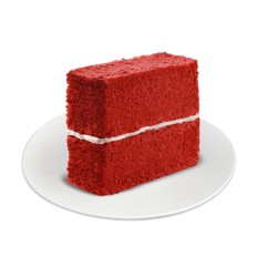 Red Ribbon Red Velvet Cake Slice