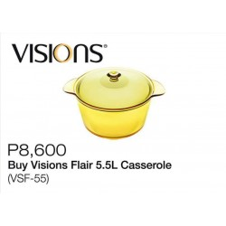 Visions Flair 5.5L Caserole