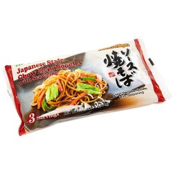 Itsuki Syokuhin Japanese Style Chow Mein Noodles with Seasoning 474g