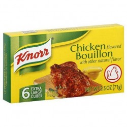 KNORR BOUILLON CHICKEN CUBES SINGLES 10GX12S