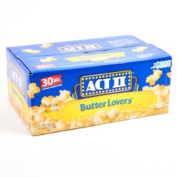 Act II Butter Lovers Popcorn 2.34 kg 30 packs