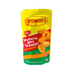 Growers Peanut Savoury Hot Family Size 100g/80g