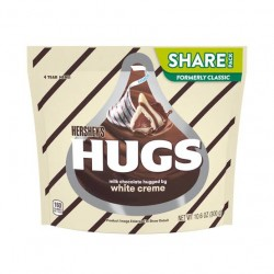 Hershey's Hugs Milk Chocolate Hugged By White Creme 10.6 oz