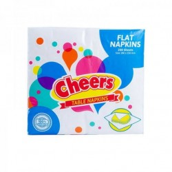 CHEERS TABLE NAPKIN FLAT 200 SHEETS