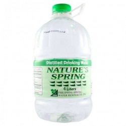 Nature's Spring Distilled Water 4L