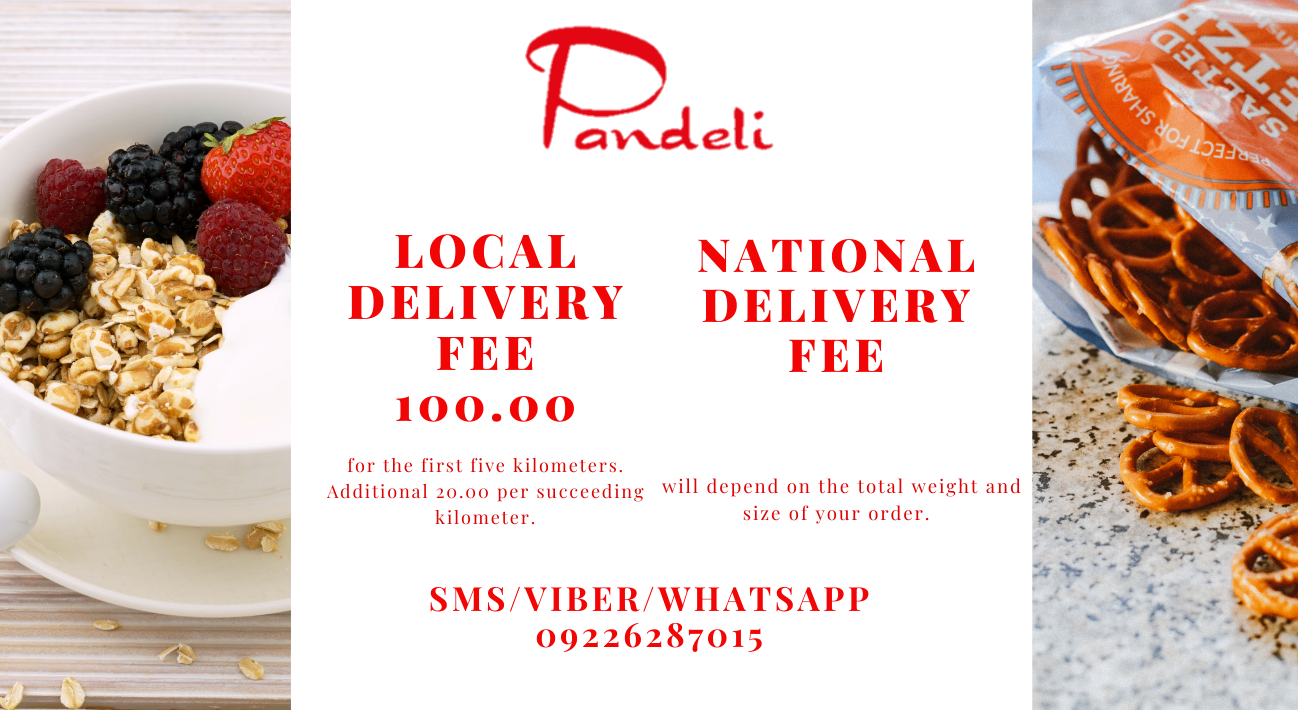 Local delivery fee of Php 100.00 for the first 5 kilometers