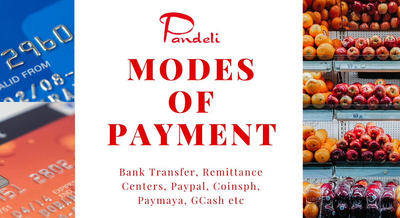 Modes of Payment made easier!